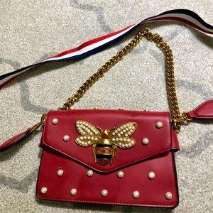 Handbags - Ladybug Genuine Leather Crossbody Bag
